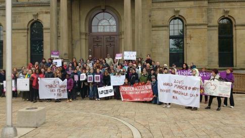 Mache mondiale des femmes, Fredericton 2015